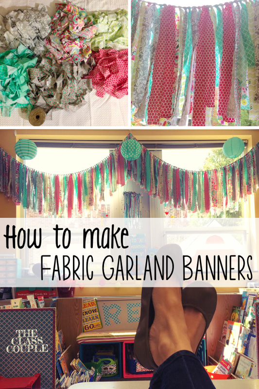 How To Make A Delightful Fabric Garland Banner